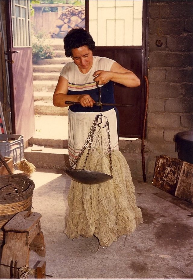 Weighing the yarn