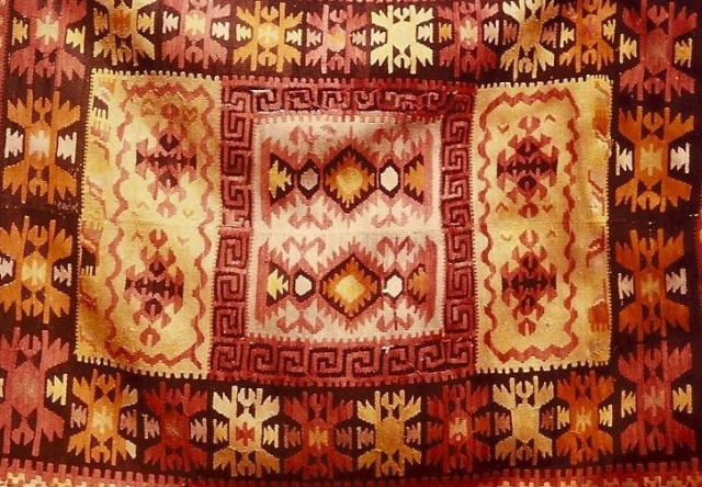 Old kilim. Stemnitsa, Peloponnese, Greece