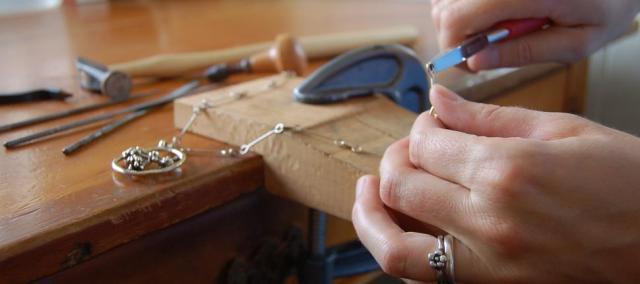 Emma De Jonge making jewellery